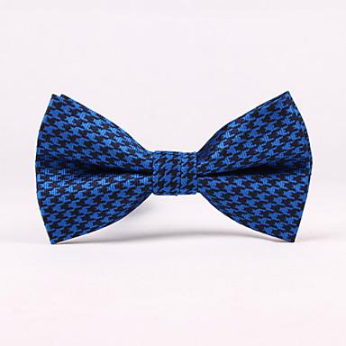 Noeuds Papillon (Gris/Bleu/Violet , Polyester) Tartan