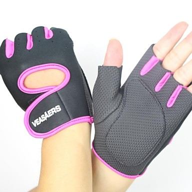 Sports Gloves Bike Gloves / Cycling Gloves Wearable Breathable Wearproof Tactical Fingerless Gloves Mesh Cycling / Bike Fitness