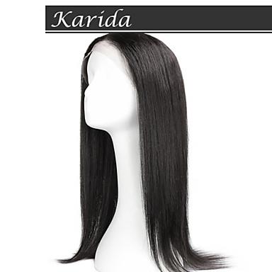 de haute qualité de cheveux humains vierges perruque cheveux raides Karida dentelle pleine brésilienne vierge perruque de cheveux humains