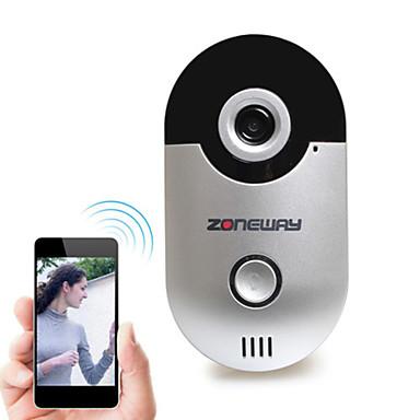 zoneway® d1 Wi-Fi видео звонок версии 1.0 с 2.5мм широкоугольным объективом, в 10 метрах ночного видения