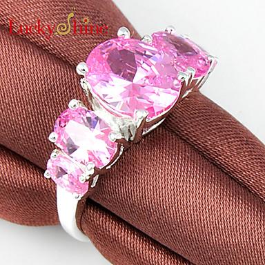 Męskie Damskie Duże pierścionki Modny Cyrkon Cyrkonia Kryształ górski Biżuteria Impreza