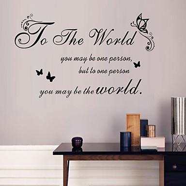 τοίχο αυτοκόλλητα τοίχου στυλ αυτοκόλλητα για τα παγκόσμια αγγλικές λέξεις&αναφέρει αυτοκόλλητα PVC τοίχο