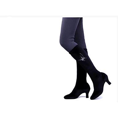여성 모던 댄스 벨벳 하이힐 실내 연습용 초보자용 청키 굽 블랙 브라운 5 - 7cm 주문제작 불가능