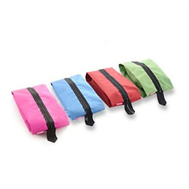 Φορητές σακούλες αποθήκευσης παπουτσιών παπουτσιών αδιάβροχο καλλυντικά ταξιδιού tote τυχαίο χρώμα