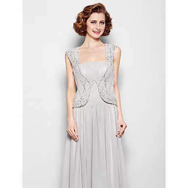 Chiffon Wedding Party / Evening Women's Wrap With Beading Vests