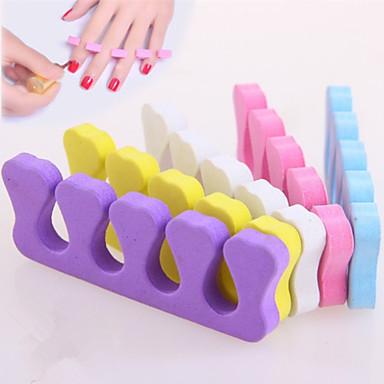 2pcs şeftali kalp pamuk parmak ayırıcıları tırnak sanat aracı