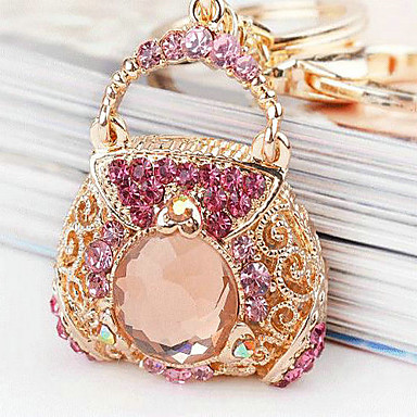 Bag Rhinestone Wedding Keychain Favor