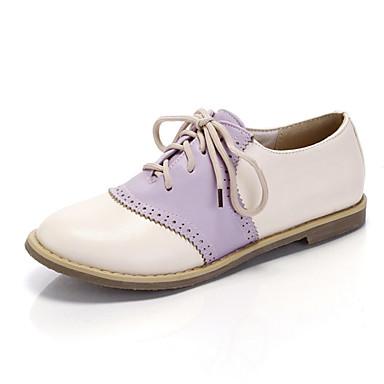 Зеленый / Розовый / Фиолетовый - Женская обувь - Для офиса / На каждый день - Искусственная кожа - На плоской подошве - С круглым носком -