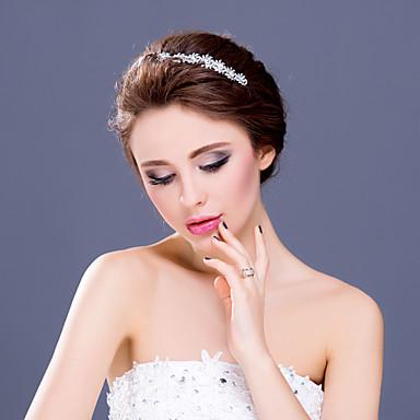 Kadın Çiçekçi Kız Yapay Elmas alaşım Başlık-Düğün Özel Anlar Günlük Taçlar Saç Bantları 1 Parça