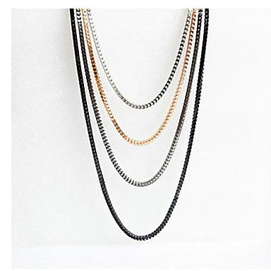смешанные цветные слои ожерелье свадебная вечеринка элегантный женский стиль