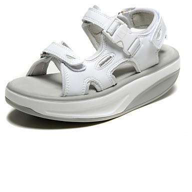 Naiset Kengät Synteettinen Kevät Kesä Syksy Comfort Platform Soljilla Käyttötarkoitus Kausaliteetti Juhlat Valkoinen Hopea Persikka
