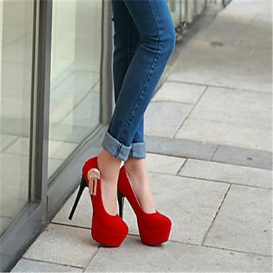 Pump Sintético Verano Otoño Primavera Tacón Vestido Morado Rojo Básico 03776667 Negro Mujer Stiletto Zapatos 1HX5w
