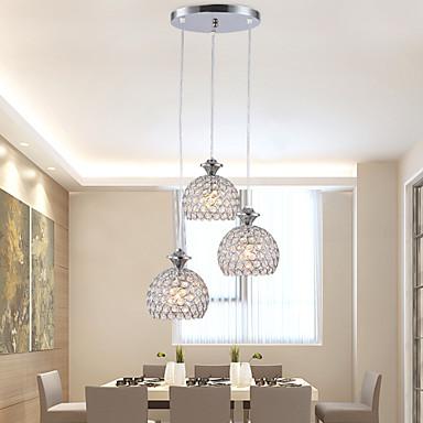 Modern / Contemporary Chandelier Pendant Light Ambient Light - Crystal Mini Style LED, 110-120V 220-240V, Warm White White, Bulb Not