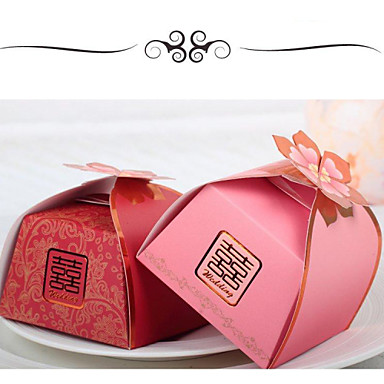 Cubic Card Paper Favor Holder With Favor Boxes-24 Wedding Favors