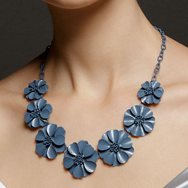 Party/Special Occasion Gray Flowers Necklaces Classical Feminine Style