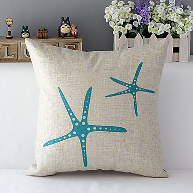 1 szt Cotton / Linen Pokrywa Pillow,Wzór zwierzęcy Modern / Contemporary