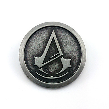 Jewelry Inspired by Assassin Connor Anime/ Video Games Cosplay Accessories Badge Brooch Alloy Male