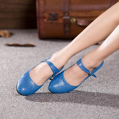 Mulheres Moderna Glitter Salto Espetáculo Ao ar livre Profissional Iniciante Ensaio/Prática Presilha Salto Personalizado Preto Azul Claro