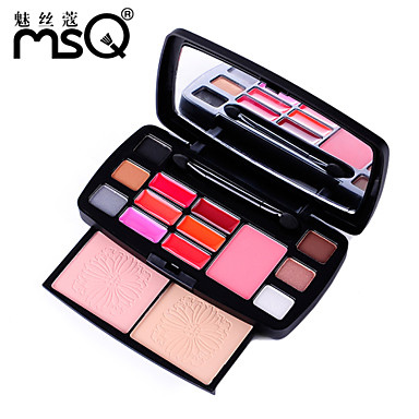 msq® 15 Farben Lidschatten professionelle Beauty Make-up Reise Packs + cy015