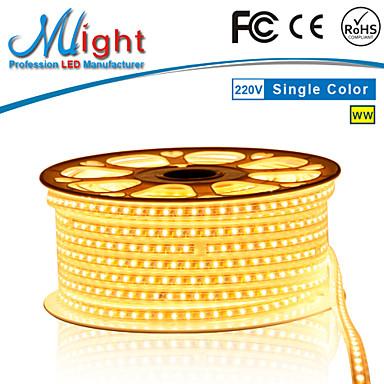Mlight M 72 leds/m 5050 SMD Ciepła biel/Biały Wodoodporny/Nadaje się do krojenia 12 W Giętkie taśmy świetlne LED AC110-220 V