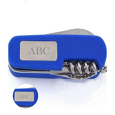 개인화 된 선물 다기능 스위스 군용 칼 스테인레스 스틸 열쇠 고리