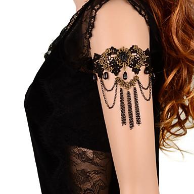 vintage μαύρο κόσμημα βραχιόλι φούντα κλασικό θηλυκό στυλ