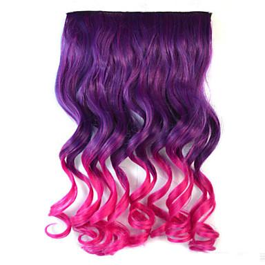 смешивать цвета волн тело синтетические расширения густые волосы клип на волосы
