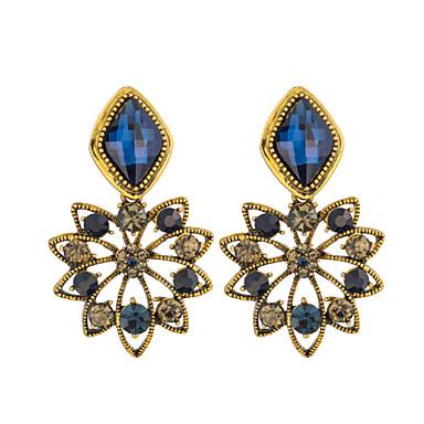 BIN BIN Women's Fashion Flower Hollow Out Design Alloy Earring