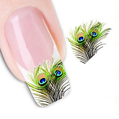 1 pcs Abstract / Fashion Water Transfer Sticker / 3D Nail Stickers Lovely Daily