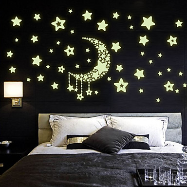 Decorative Wall Stickers - Luminous Wall Stickers Still Life Romance Fashion Living Room Bedroom Bathroom