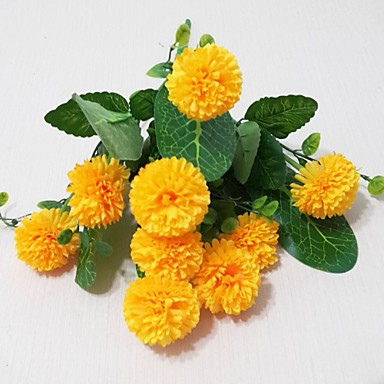 Künstliche Blumen 1 Ast Moderner Stil Chrysanthemum Tisch-Blumen