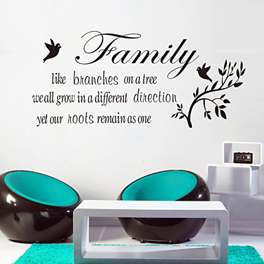 Animals Words & Quotes Cartoon Botanical Wall Stickers Words & Quotes Wall Stickers Decorative Wall Stickers, Vinyl Home Decoration Wall
