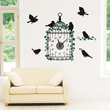 DIY 3D Creative Beautiful Cage Wall Clock
