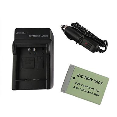 13L 1250mah kamera akkumulátor + autós töltő Canon PowerShot G7 x