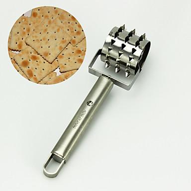 Ekmek paslanmaz biftek ekmek pizza hamuru pasta delik docker silindir