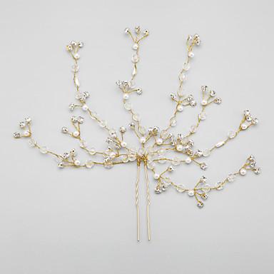 billige Hodeplagg til fest-Imitasjon perle legering blomster headpiece klassisk feminin stil