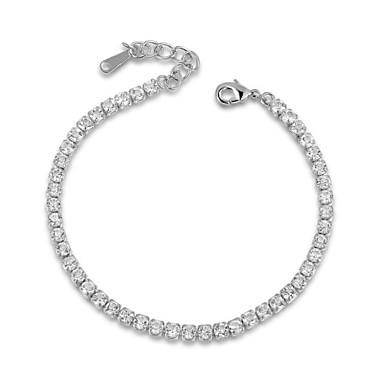 Kadın's Tenis Bilezikler Kristal Lüks Kristal Kübik Zirconia alaşım Mücevher Düğün Parti Günlük Kostüm takısı