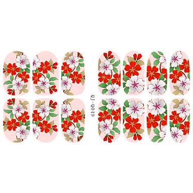 Autocollants 3D pour ongles - Doigt - en Bande dessinée/Fleur/Adorable - 14.2*7.5*0.1