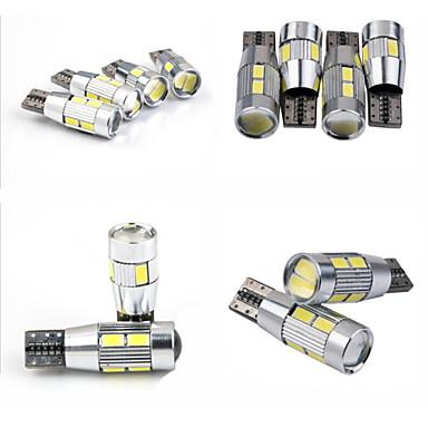 teso t10 4w dc 11-13 v 10kpl 5630/5730 SMD LED CAN 6000-6500k leveä valaisin, lukulamppu, auton rekisterikilven valaisin
