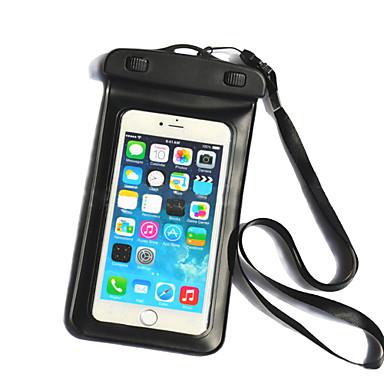 Pouzdro Uyumluluk iPhone 6s Plus iPhone 6 Plus Evrensel Su Geçirmez Pencereli Çanta Kılıf Tek Renk Yumuşak PC için