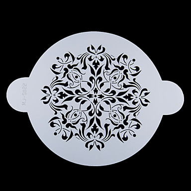FOUR-C Cake Top Decor Stencil Cake Design Stencil Sugar Craft Tools Color White