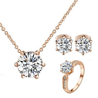Komplet nakita Kristal Klasik Vintage Slatko Zabava Posao Ležerne prilike Simple Style Kubični Zirconia Imitacija dijamanta Legura