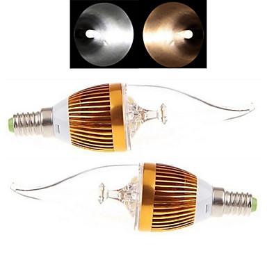 E14 LED Mum Işıklar 3LED led COB Sıcak Beyaz Serin Beyaz 150-250lm 2800-3500/6000-6500K AC 85-265V