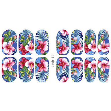 Flower / Cartoon / Fashion 3D Nail Stickers Lovely Daily