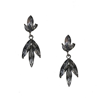 Women's Drop Earrings Luxury Glass Alloy Jewelry White Gray Wedding Party Daily Casual Sports Costume Jewelry