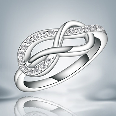 Damen Bandring Kristall Silber Sterling Silber Silber Unendlichkeit Quaste Retro Niedlich Party Büro Freizeit Modisch Hochzeit Party