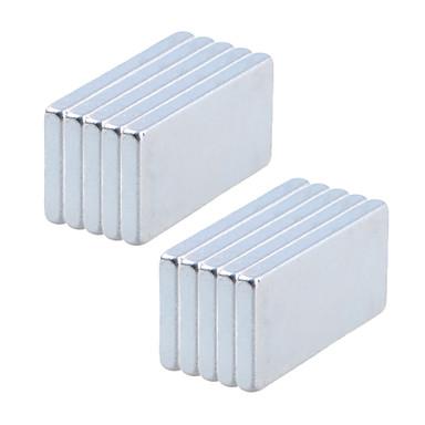 10 pcs 20*10*2mm Magnetspielsachen Bausteine Puzzle Würfel Neodym - Magnet Magnet Magnetisch Erwachsene Jungen Mädchen Spielzeuge Geschenk