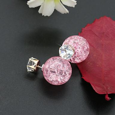 여성용 크리스탈 라인석 도금 골드 오스트리아 크리스탈 스터드 귀걸이 - 패션 유럽의 핑크 밝은 블루 라이트 그린 귀걸이 제품