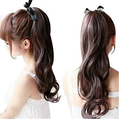 A Clipser Ondulation naturelle Pièce de cheveux Extension des cheveux 18 pouces Marron