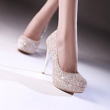 Chaussures Eté Personnalisées Femme 04746559 Mariage Vert Doré Talon Printemps Noir Aiguille Matières Paillette d1nwX4